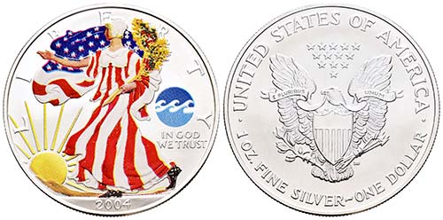 United States. 1 dollar. 2004. Ag. ...